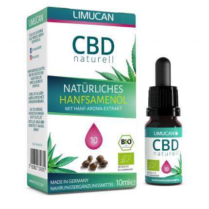 CBD naturell Natürliches Hanfsamenöl 10% Limucan