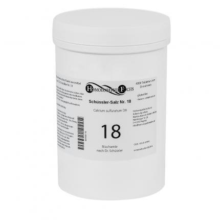 HOMOEOPATHIEFUCHS Schüssler-Salz Nummer 18 Calcium sulfuratum D6 Biochemie