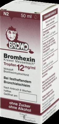Bromhexin Krewel Meuselbach 12mg/ml