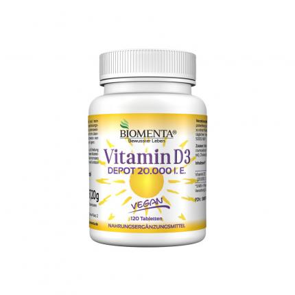 Vitamin D3 Depot 20.000 I.e. Vegan Tabletten