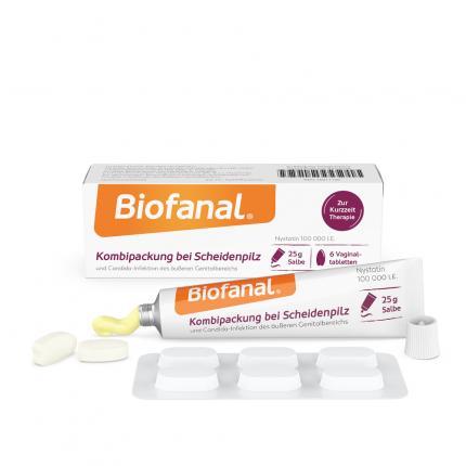 Biofanal Kombipackung bei Scheidenpilz Vaginaltabletten + Salbe