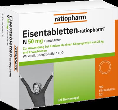 Eisentabletten Ratiopharm N 50mg Filmtabletten 100 Stück Medicaria