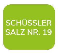 Homöopathiefuchs Schüssler Salz Nr. 19